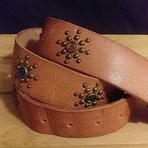 Hollister leather belt size medium